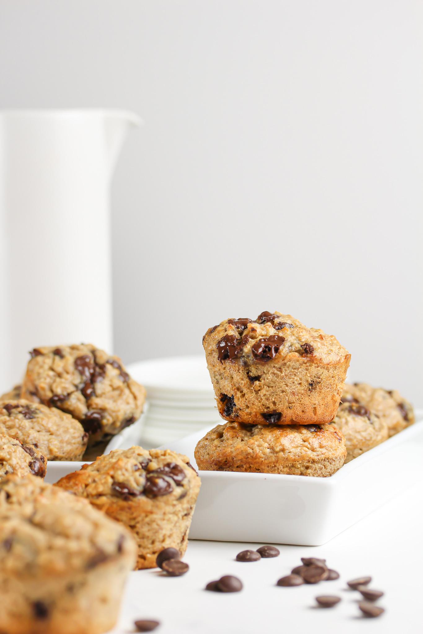 Grötmuffins med choklad – & jordnötssmör