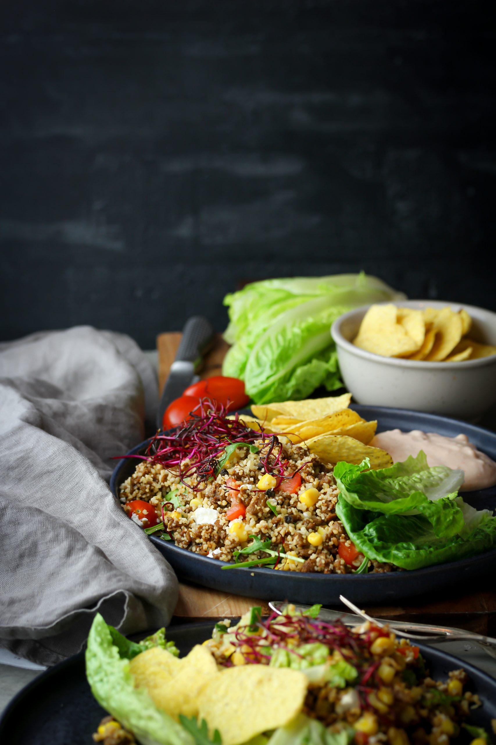 Tacosallad med couscous