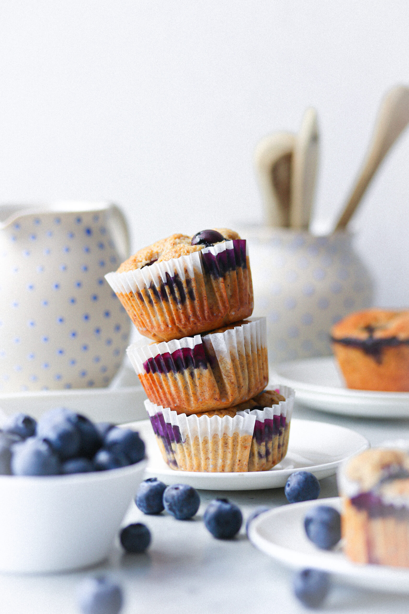 Vanilj – & blåbärsmuffins
